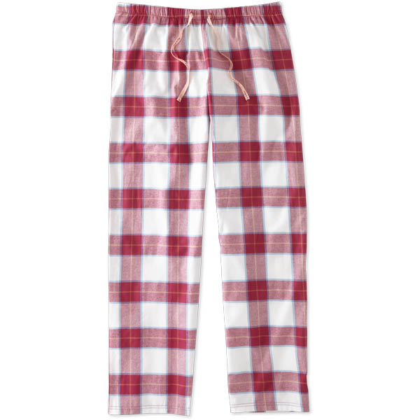Life is Good Women's Ivory and Rose Plaid Sleep Pants