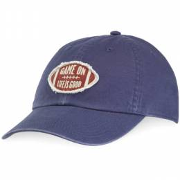 Life is Good Tattered Game On Football Chill Cap in Darkest Blue