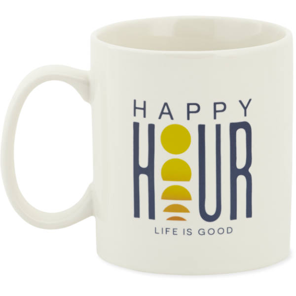 Life is Good Happy Hour Sunset Jake's Mug