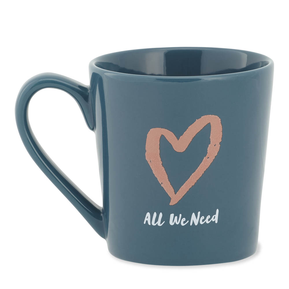 Life is Good All We Need Heart Everyday Mug