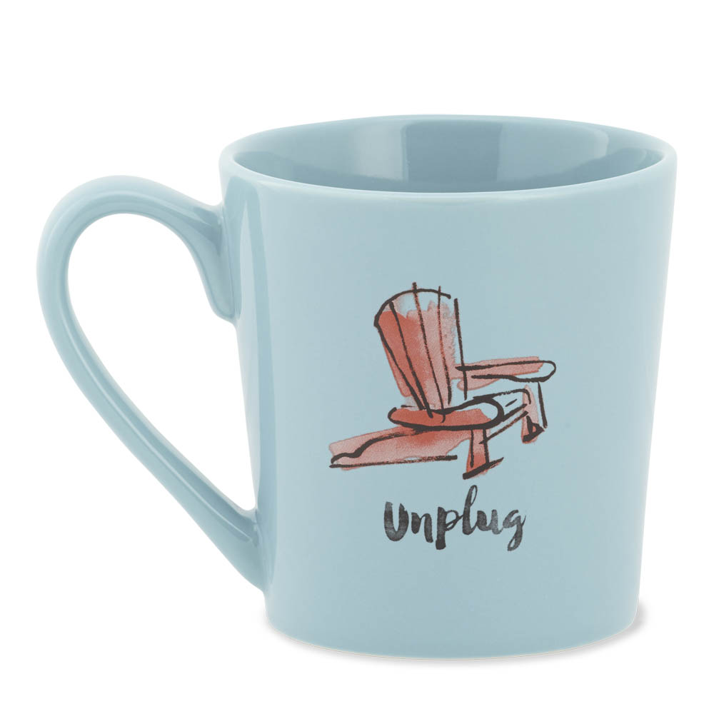 Life is Good Unplug Adirondack Chair Everyday Mug