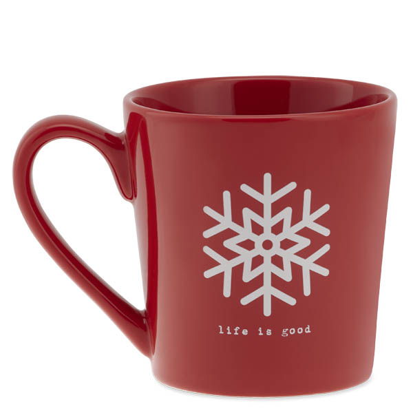 Life is Good Snowflake Everyday Mug