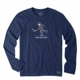Life is good Men's Hockey Have an Ice Day Long Sleeve Crusher Tee