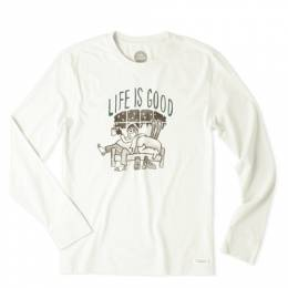Life is good Men's Ski Lodge Long Sleeve Crusher Tee