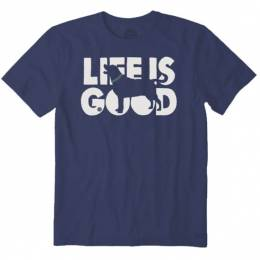 Life is Good Men's Life is Good Dog Silhouette Crusher Tee