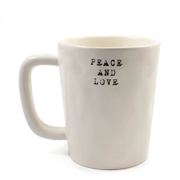 Life is Good Peace and Love Artisan Mug