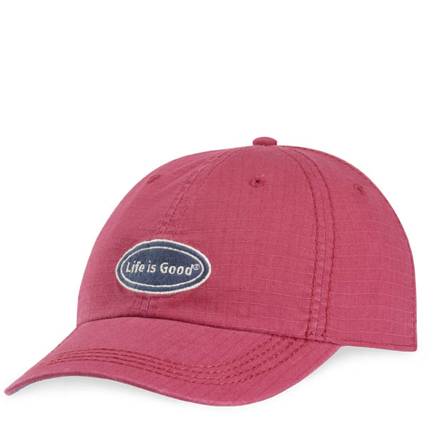Life is Good Life is Good Oval Ripstop Chill Cap in Rose Berry