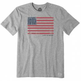 Life is Good Men's Spread Good Vibes Flag Crusher Tee