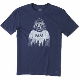 Life is Good Men's Papa Bear Crusher Tee