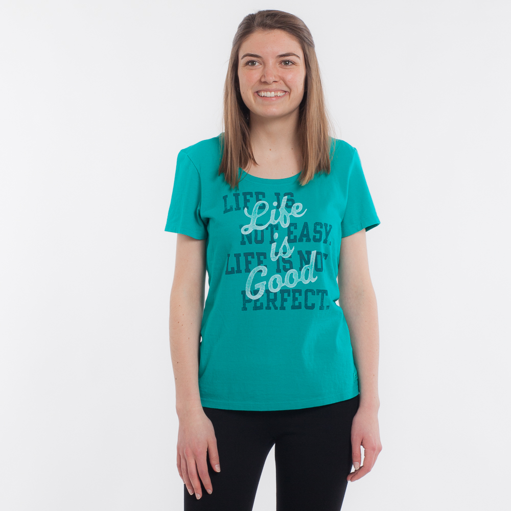 Life is Good Women's Life is Not Easy Crusher Scoop Tee