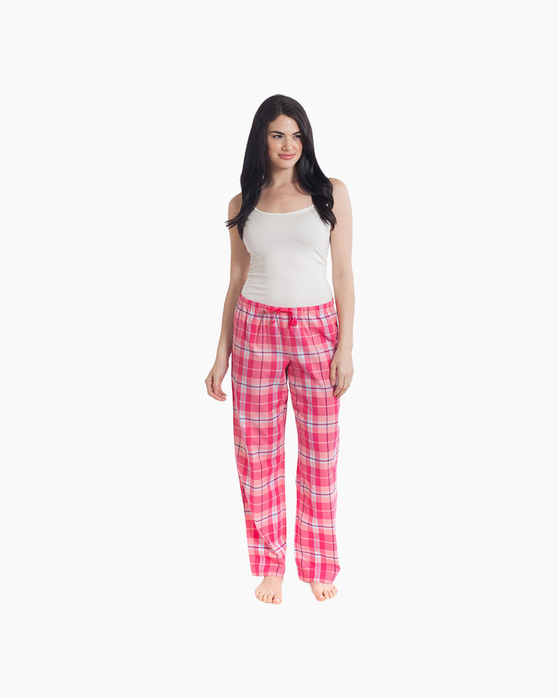 Life is Good Women's Pink Plaid Classic Sleep Pants