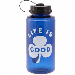 Life is Good Blue Clover Water Bottle