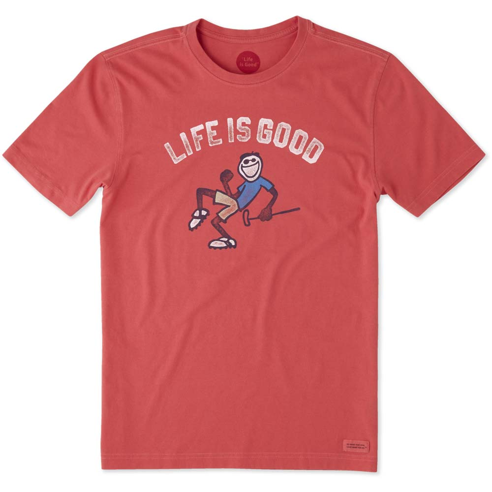 Life is Good Men's Pump Putt Crusher Tee in Americana Red