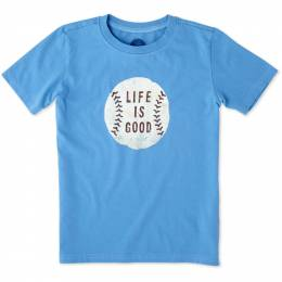 Life is Good Boy's Baseball Crusher Tee