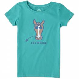 Life is Good Girl's Life is Good Horse Crusher Tee