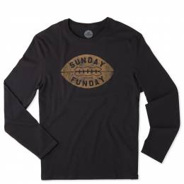 Life is Good Men's Sunday Funday Football Long Sleeve Crusher Tee