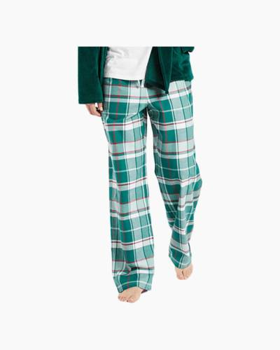 Women's Forest Green Plaid Classic Sleep Pants