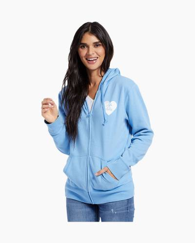 Women's Life is Good Heart Go-To Zip Hoodie