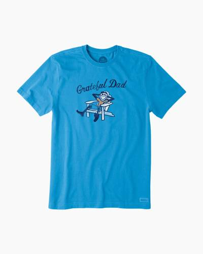 Men's Grateful Dad Short Sleeve Crusher Tee