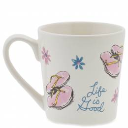 Life is Good Flip Flops and Flowers Everyday Mug