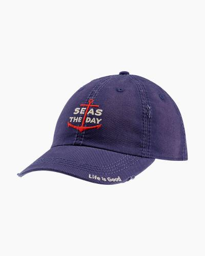 Seas the Day Sunwashed Chill Cap in Darkest Blue
