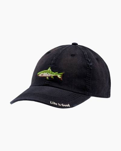 Fish Stitch Sunwashed Chill Cap in Night Black