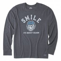Life is Good Men's Hockey Season Long Sleeve Crusher Tee