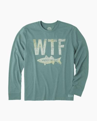 Men's WTF Fish Long Sleeve Crusher Tee