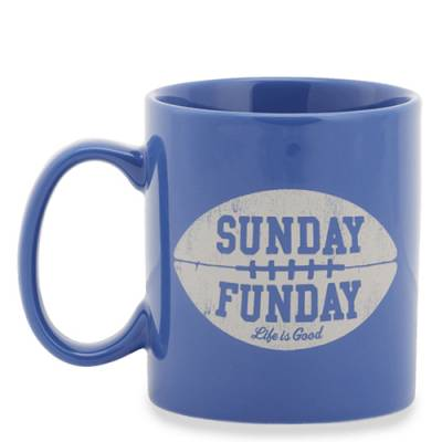 Sunday Funday Blue Football Jake's Mug
