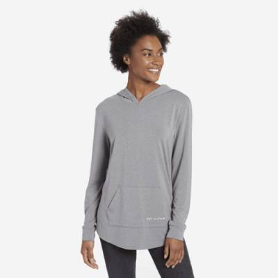 Women's Life is Good Supreme Hooded Pullover - Heather Gray
