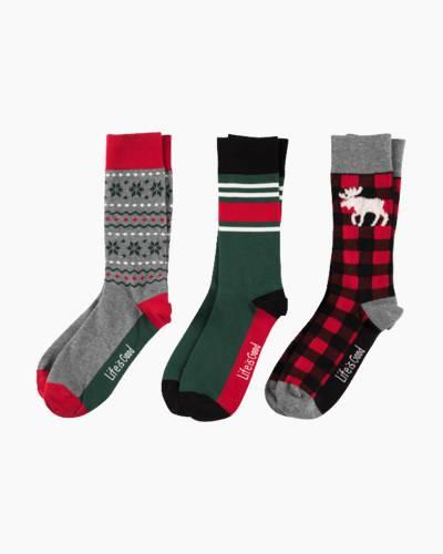 Men's Good Vibes Holiday Crew Socks Bundle (3-Pack)