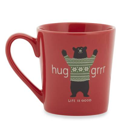 Huggrr Bear Everyday Mug in Americana Red