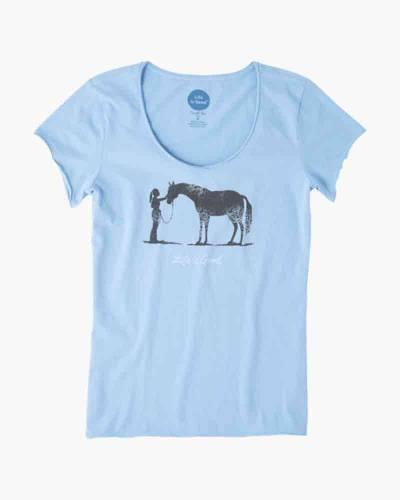 Women's Besties Horse Crusher Vee Tee