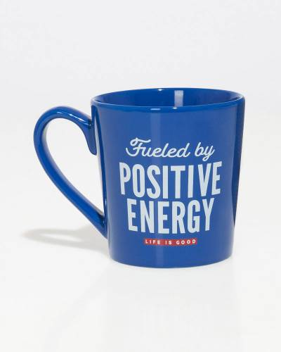 Fueled by Positive Energy Everyday Mug in Darkest Blue