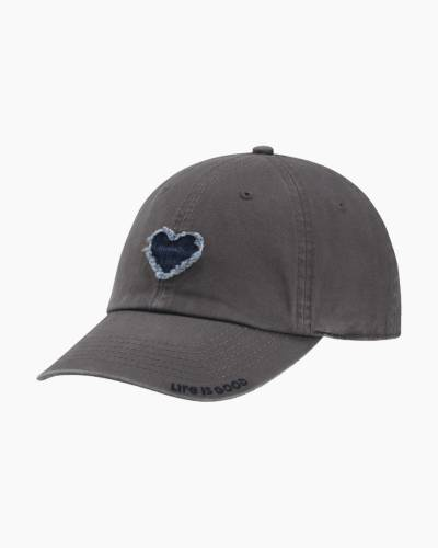 Women's Denim Heart Tattered Chill Cap