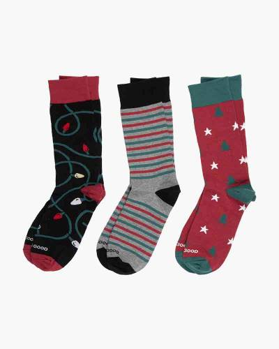 Men's Holiday Crew Socks (3-Pack)