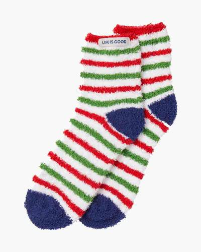 Women's Holiday Stripe Snuggle Socks