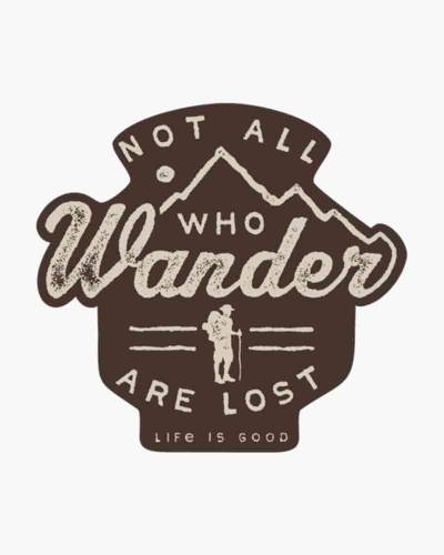 Wander Hike Small Die Cut Decal