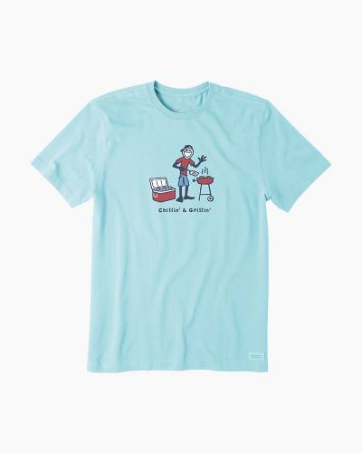 Men's Chillin and Grillin Vintage Crusher Tee