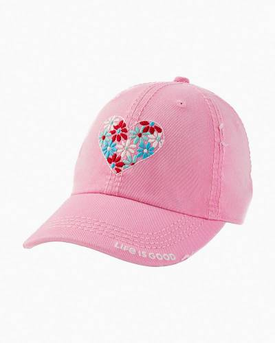 Women's Flower Heart Sunwashed Chill Cap