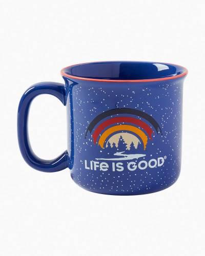 Landscape Rainbow Happy Camper Mug