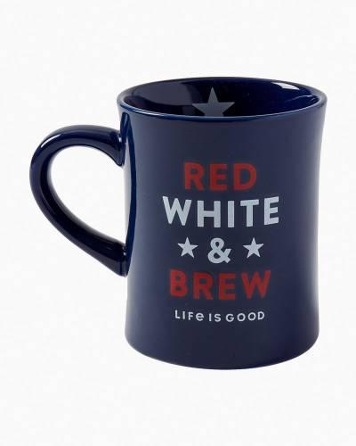 Red White and Brew Diner Mug