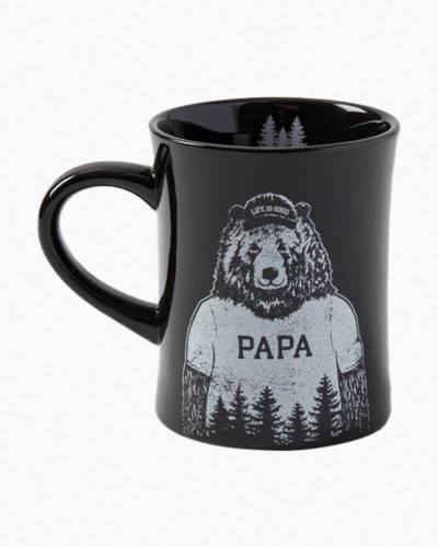 Papa Diner Mug in Jet Black