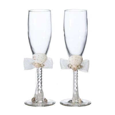 Seashell Ivory Toasting Glasses
