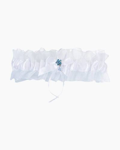 White Something Blue Garter