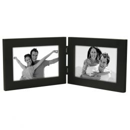 Malden Double Black Wood Frame (4x6in)