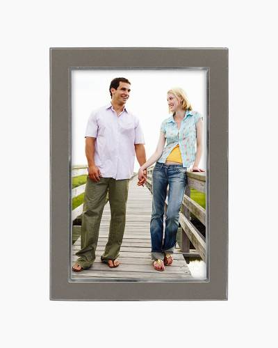Two Tone Silver Metal Frame (5x7in)