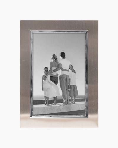 Two-tone Silver Metal Frame (8x10in)