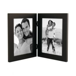 Malden Black Wooden Double Frame (5x7in)