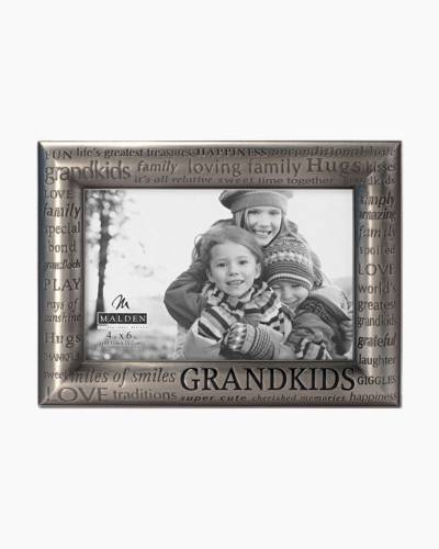 Silver Metal Grandkids Photo Frame